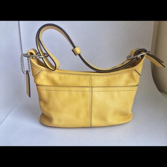 380916613e Coach Bags | Butter Yellow Leather Spring Handbag Purse | Poshmark